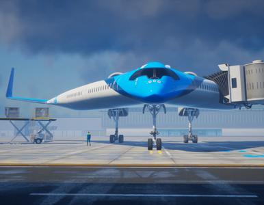 "Samolot w kształcie litery ""V"". Nowatorski projekt holenderskich linii..."