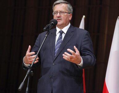 Komorowski nagrodzony oklaskami