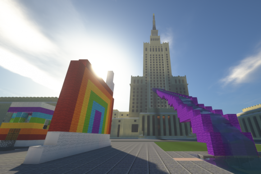 Tak może wyglądać Warszawa stworzona w grze Minecraft