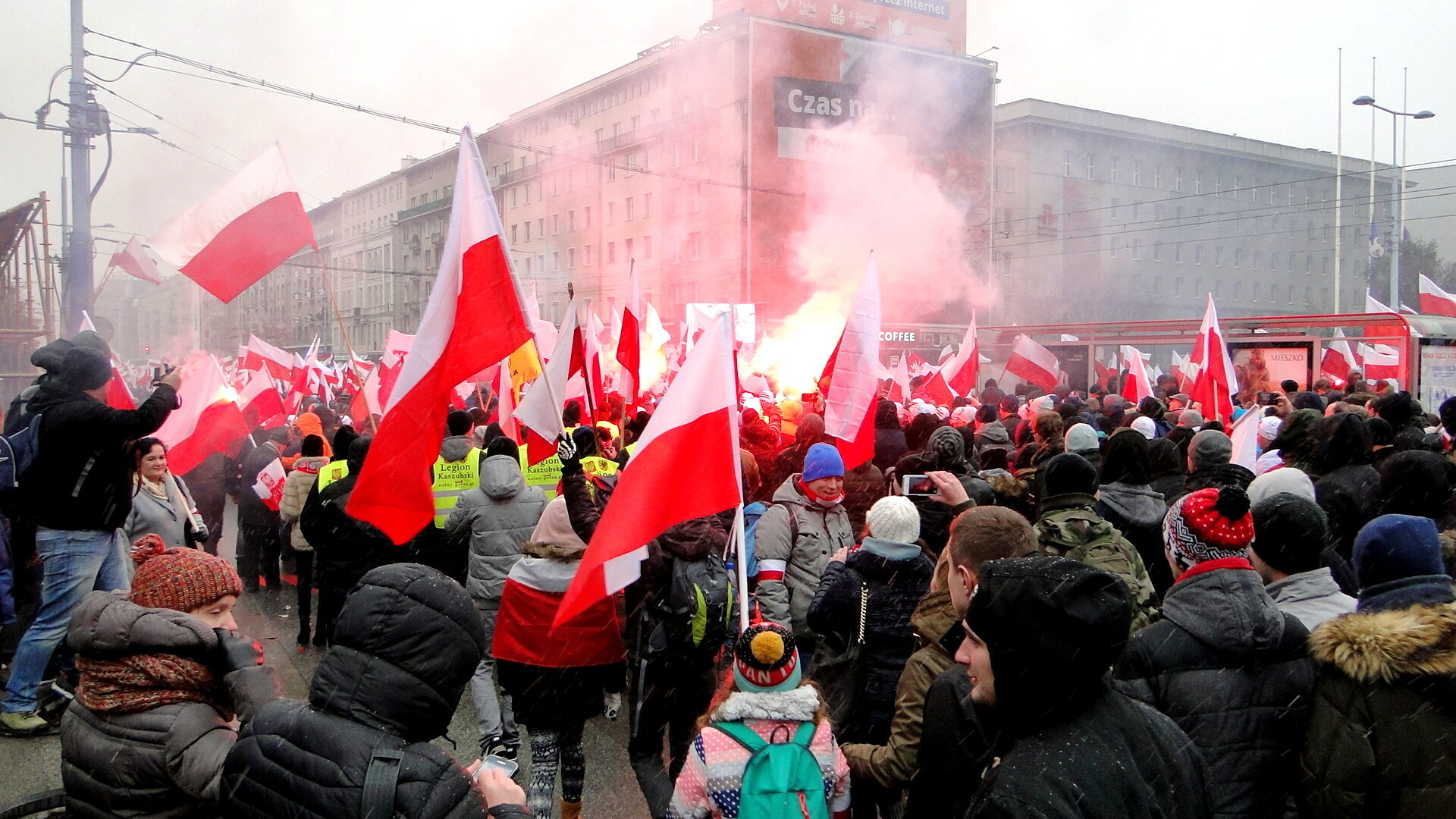 Uczestnicy Marszu Niepodległości
