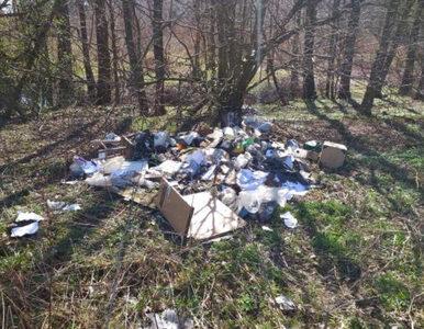 Lasy zamknięte, a śmieci w nich przybywa. Policja przyłapała rolnika....