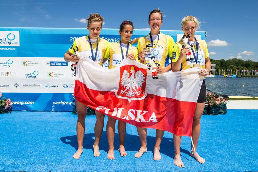 Agnieszka Kobus, Marta Wieliczko, Maria Springwald, Katarzyna Zillmann na Mistrzostwach Świata w Poznaniu, w 2017 r.