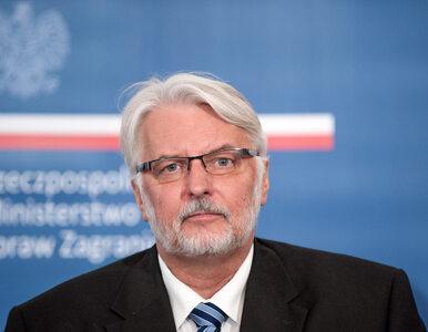 """Polityk porównał polską dyplomację do stonki. """"Waszczykowski mówi, że to..."""