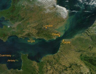 Zderzenie statku i barki na kanale La Manche