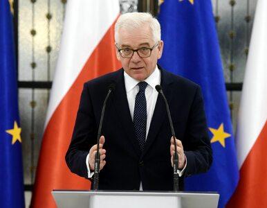 Polska flaga spalona przed ambasadą RP w Kijowie. MSZ reaguje