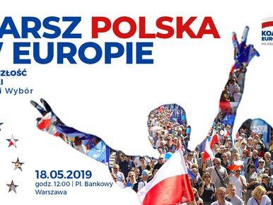 """Warszawa. Spore utrudnienia w ruchu w związku z marszem """"Polska w Europie"""""""