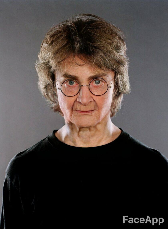 Harry Potter (Daniel Radcliffe) postarzony przez FaceApp