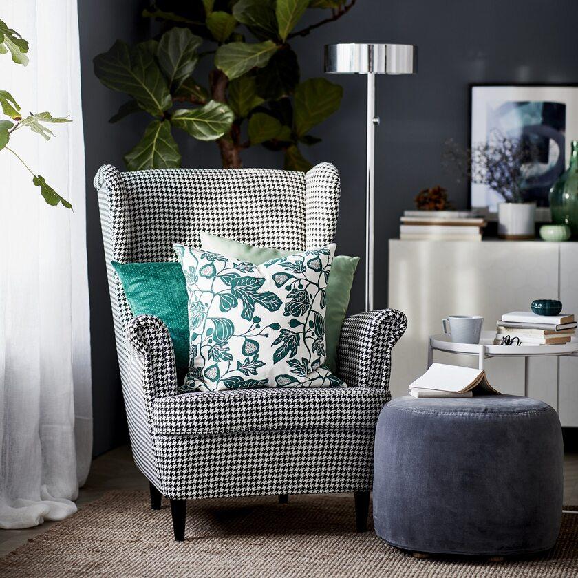 Wygodny fotel uszak do salonu