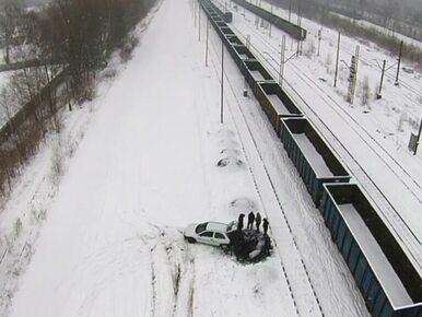 Dron PKP Cargo nagrał złodziei węgla na stacji w Rudzie Śląskiej