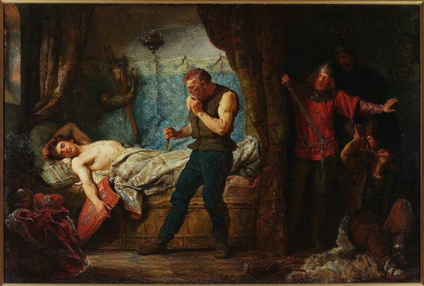 Śmierć Przemysła II na obrazie Wojciecha Gorsona