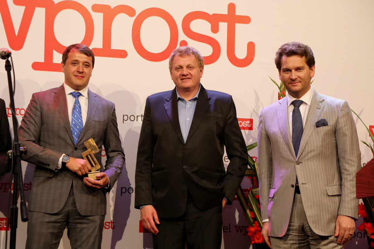 Wiceprezes Zarządu Idea Bank - Dariusz Makosz, Redaktor Naczelny Tomasz Wróblewski oraz Michał M. Lisiecki - Wydawca Wprost