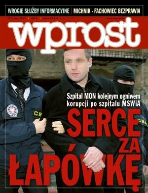 Okładka tygodnika Wprost nr 8/2007 (1261)