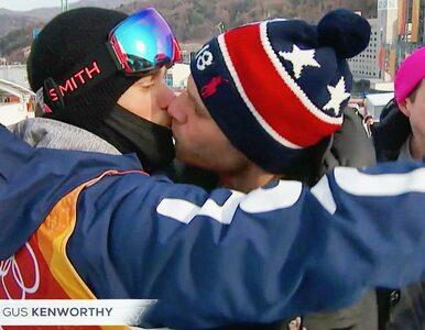 """Gejowski pocałunek olimpijczyka na wizji. """"Dzieci w swoich domach..."""