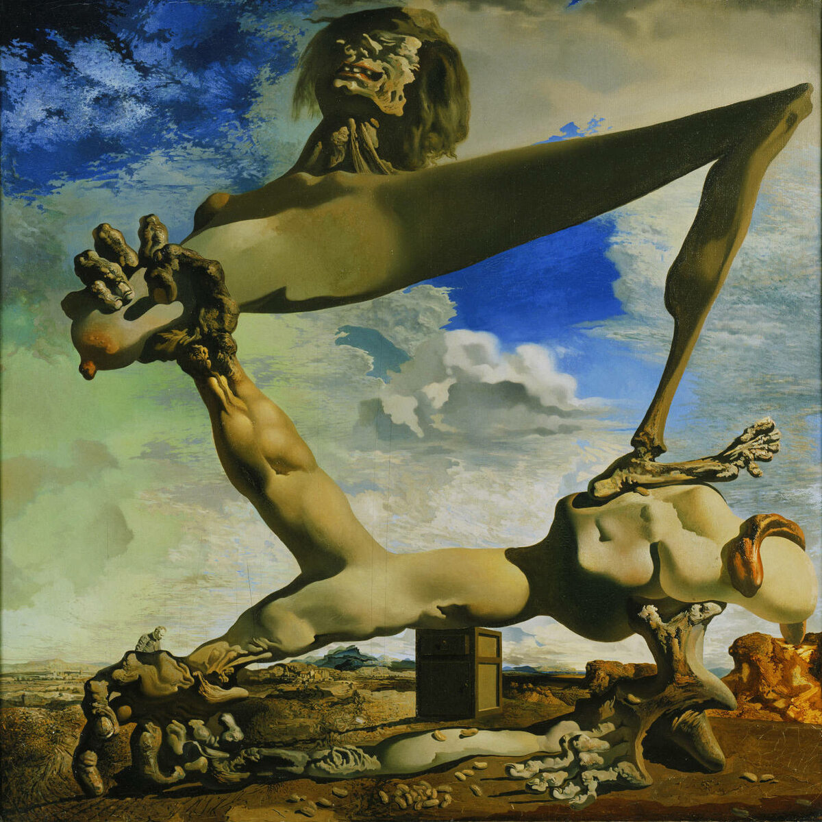 """Salvador Dali """"Miękka konstrukcja z gotowaną fasolką - przeczucie wojny domowej"""" 1936 r."""