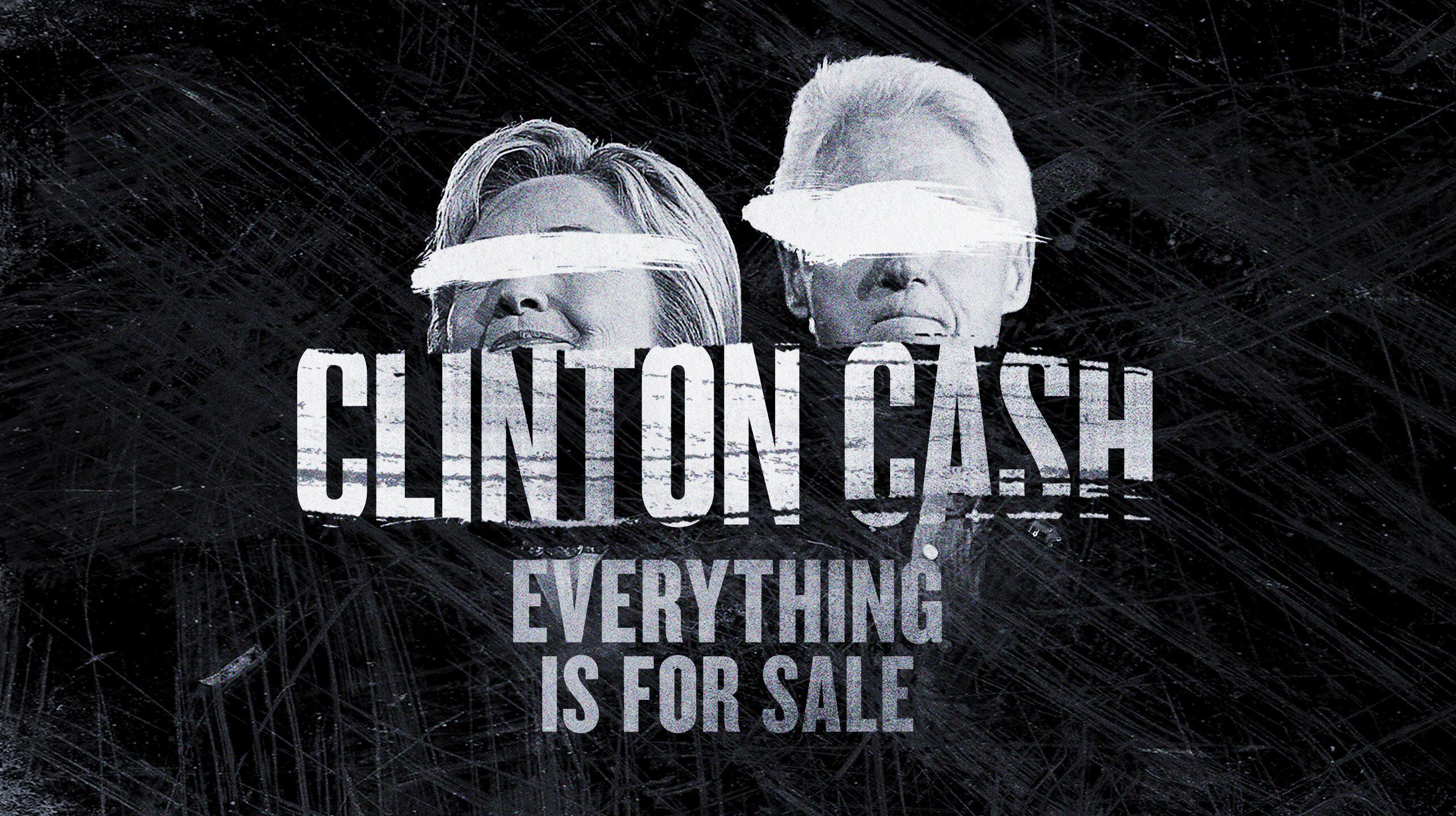 "Plakat filmu ""Clinton Cash"" (2016)"