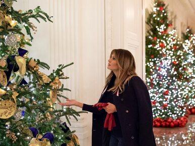 Melania Trump zaskoczyła przed świętami. W Białym Domu pojawiły się......