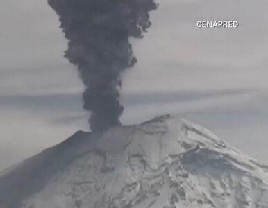 Kilka erupcji wulkanu w Meksyku. Groźny Popocatepetl znów straszy