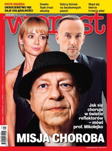 Okładka tygodnika Wprost nr 35/2013 (1592)