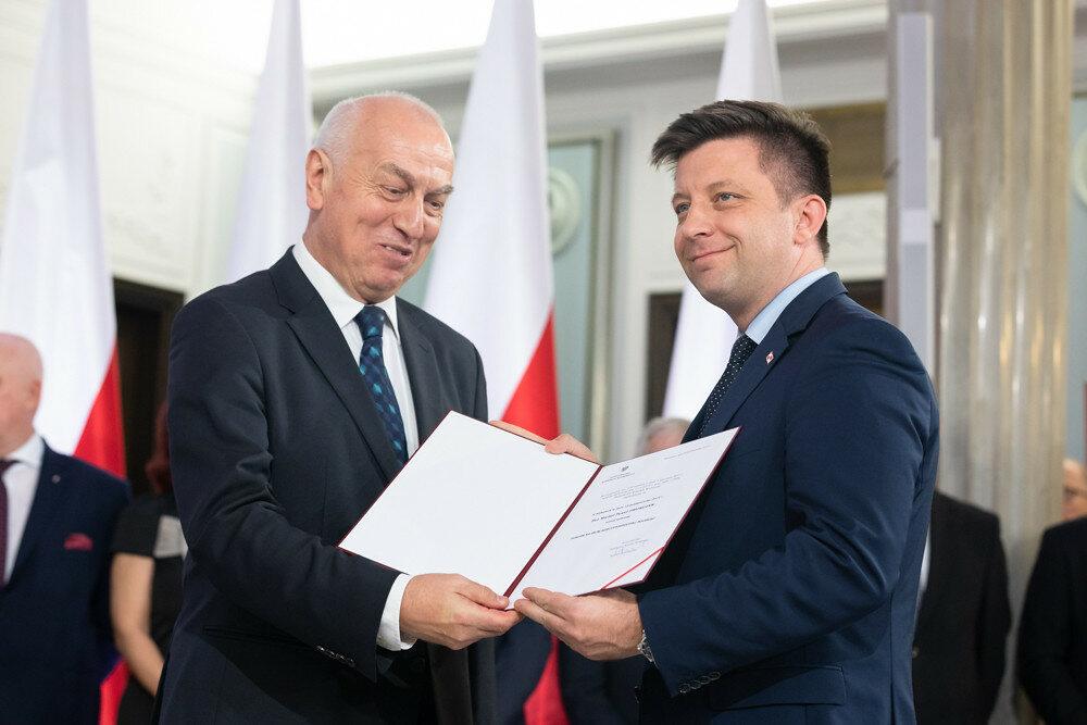 Michał Dworczyk przyjmuje nominację poselską