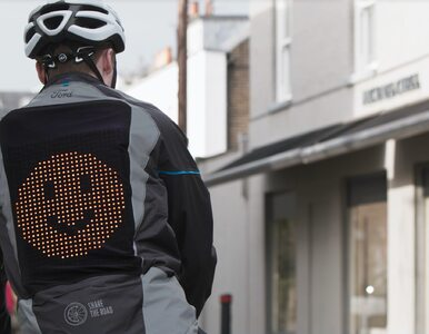 Powstała specjalna kurtka z emotikonami… dla rowerzystów