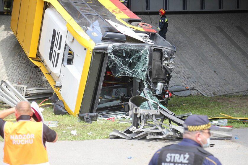 Miejsce wypadku w Warszawie