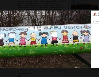 """Zniszczono mural wykonany przez dzieci.""""Biały Targówek pie***li uchodźców"""""""