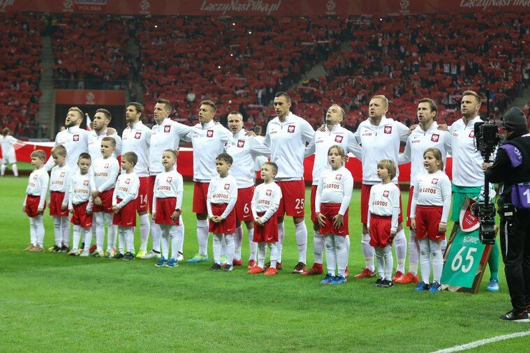 Reprezentacja Polski przed meczem w Warszawie