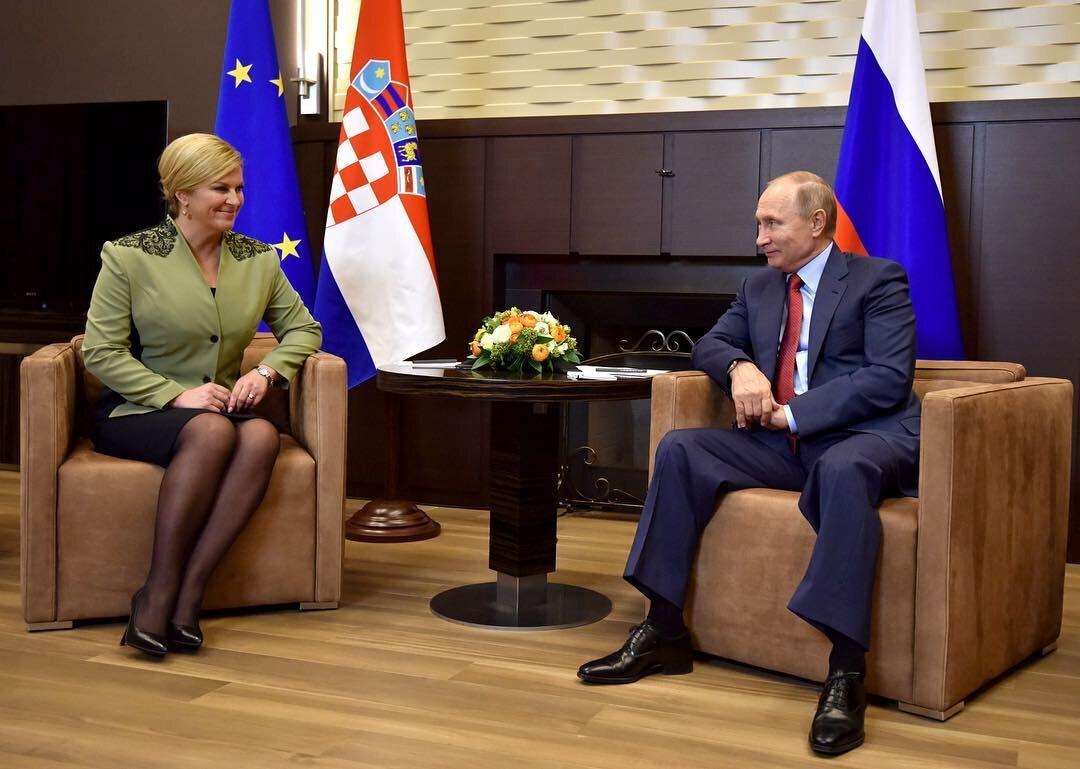 Kolinda Grabar-Kitarović i Władimir Putin