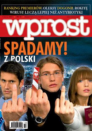 Okładka tygodnika Wprost nr 10/2004 (1110)