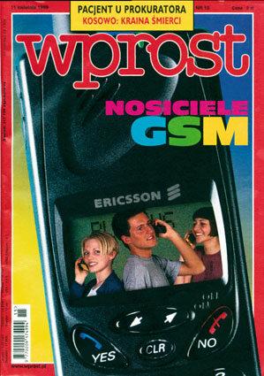 Okładka tygodnika Wprost nr 15/1999 (854)