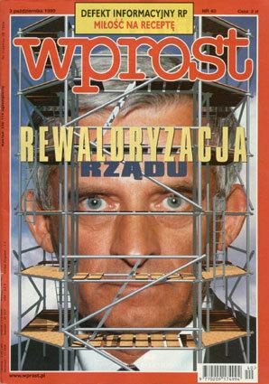 Okładka tygodnika Wprost nr 40/1999 (879)