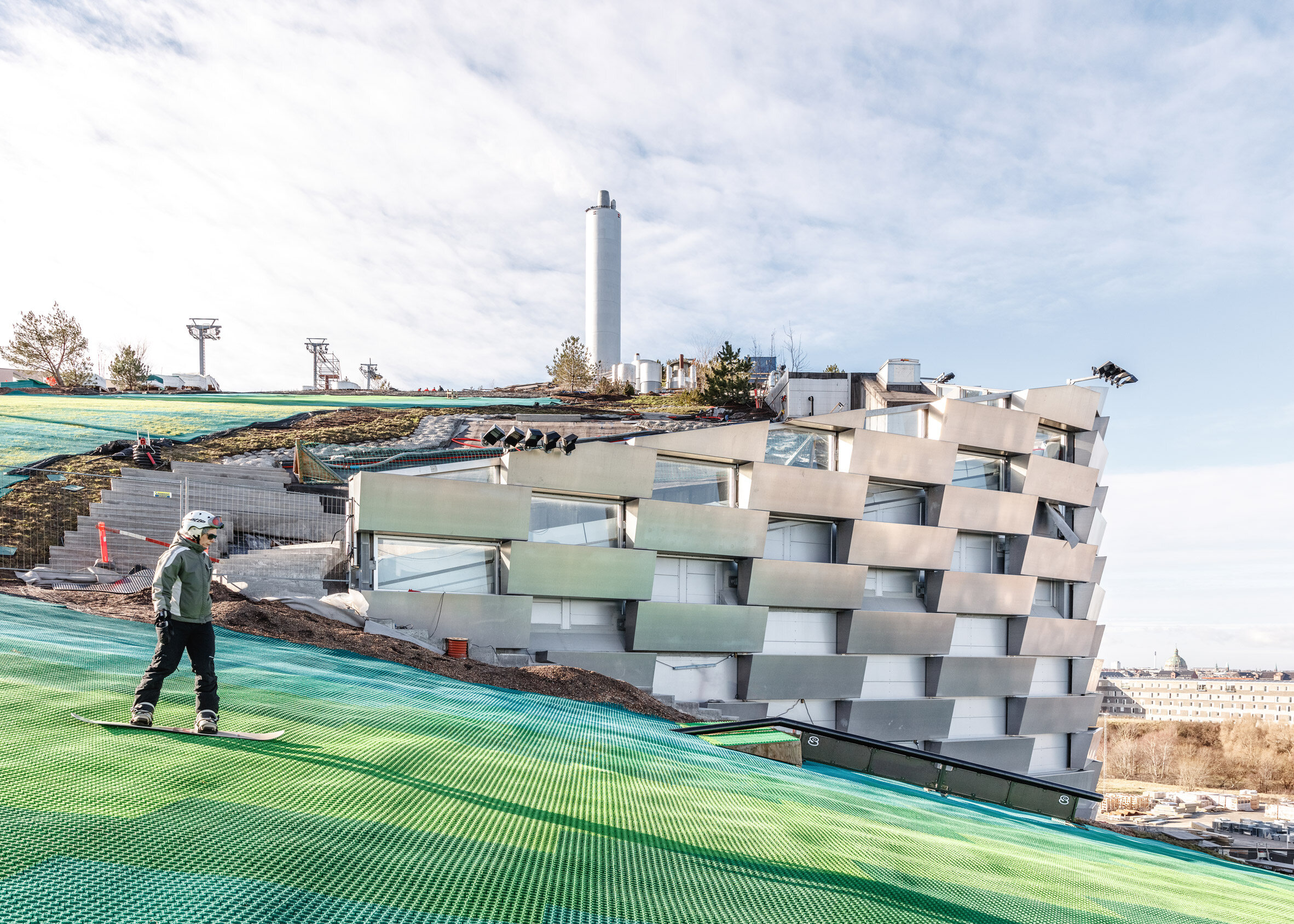 Stok na spalarni odpadów Stok na spalarni odpadów w Kopenhadze