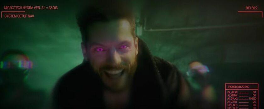 Kadr ze zwiastuna filmu Cyberpunk 2077: Fan Film: Phoenix Program