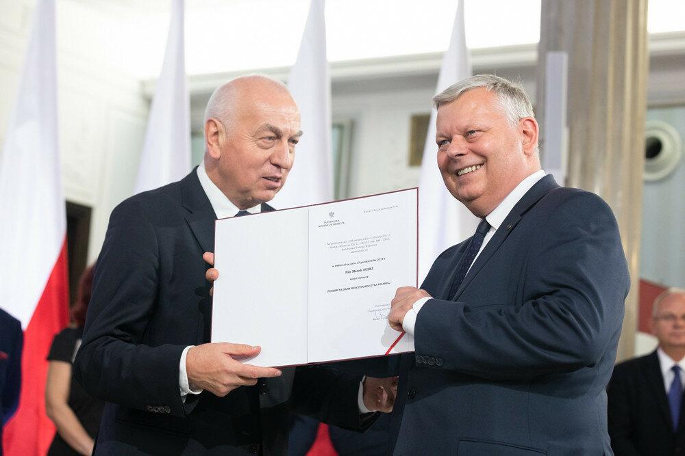 Marek Suski odbiera nominację poselską