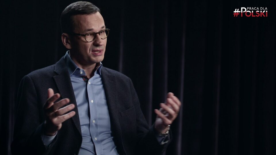 Mateusz Morawiecki. Kadr ze spotu