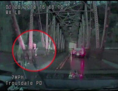 Skoczyła z mostu, próbując uciec przed policją