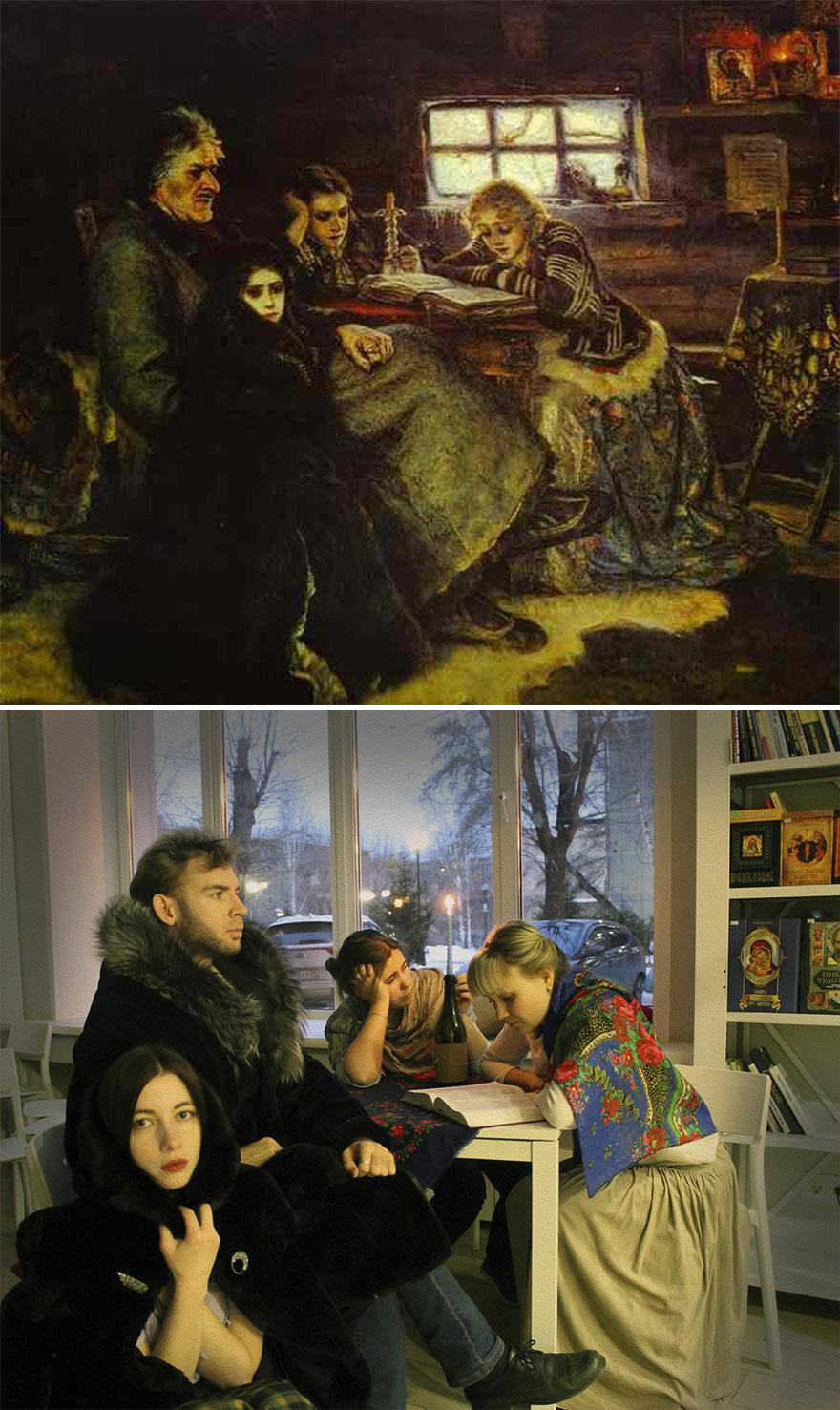 Dzieło sztuki i scena nim inspirowana