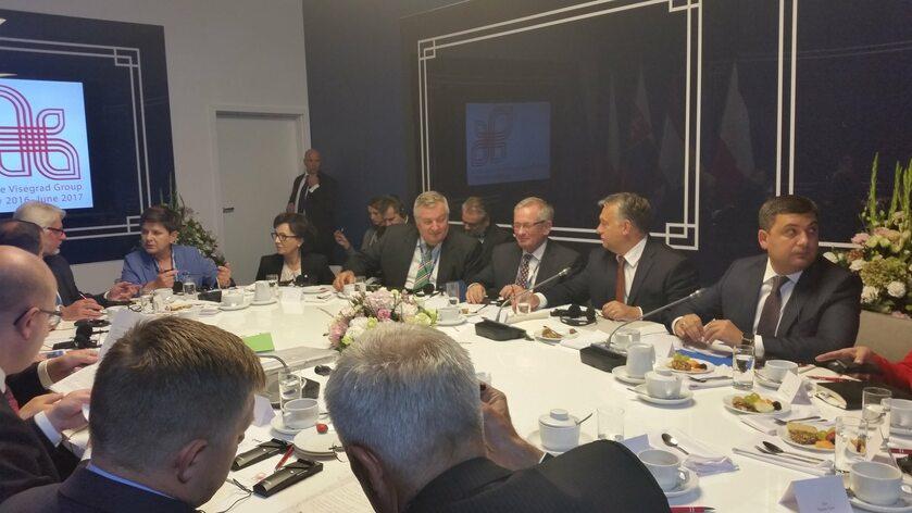 Spotkanie premierów Grupy Wyszehradzkiej w Krynicy