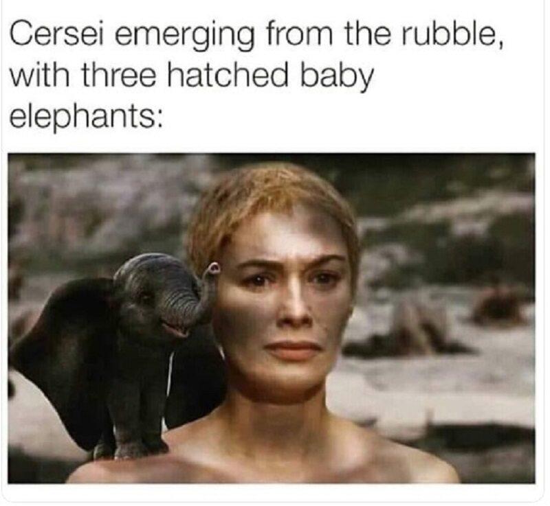 Gdyby Cersei miała przy sobie skamieniałe słonie jaja...