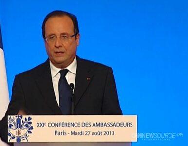 Hollande: to była masakra chemiczna. Trzeba ukarać winnych