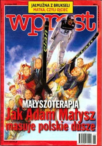 Okładka tygodnika Wprost nr 6/2002 (1002)
