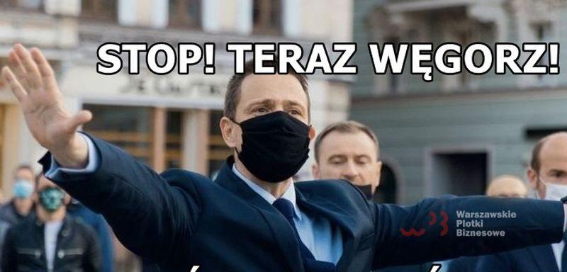 Fragment mema z Rafałem Trzaskowskim